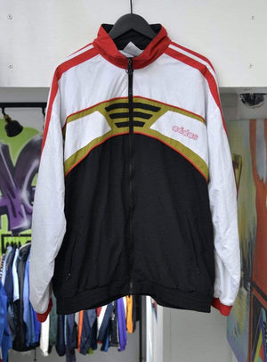 Laad het beeld in de Gallery viewer, Adidas Jackets Vintage Adidas Track Jacket Red/White XXL