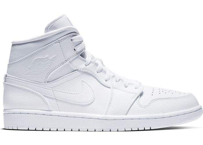 Air Jordan Shoes Air Jordan 1 Mid Full White/Triple White
