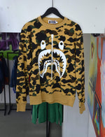 Bape Sweatshirts BAPE 1st Camo Shark Crewneck Yellow