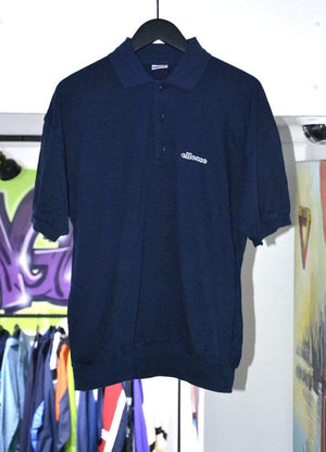 Laad het beeld in de Gallery viewer, Ellesse Polo Vintage Ellesse Navy Polo Large