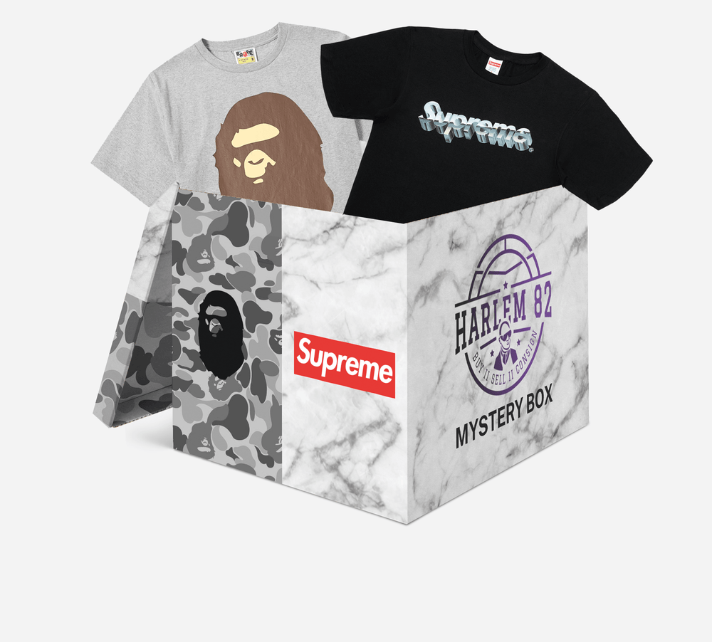 Laad het beeld in de Gallery viewer, Harlem 82 Mystery Box Supreme/Bape Mystery Box