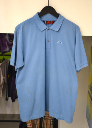 Kappa Polo Large Vintage Kappa Baby Blue Polo