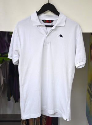 Kappa Polo Medium Vintage Kappa White Polo