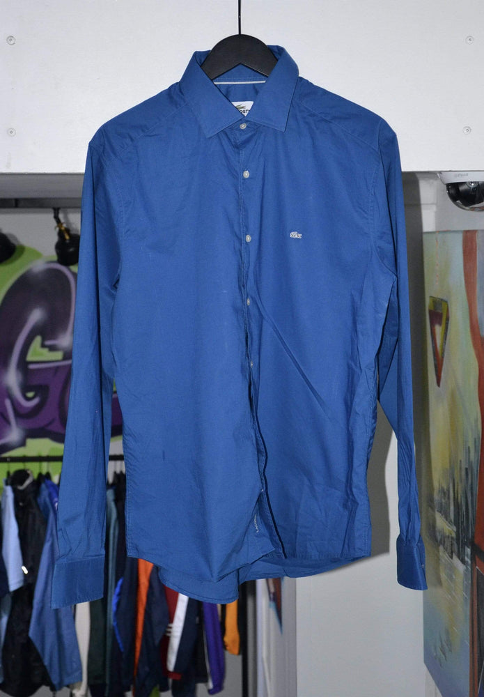 Load image into Gallery viewer, Lacoste Shirt Vintage Blue Lacoste Shirt XL