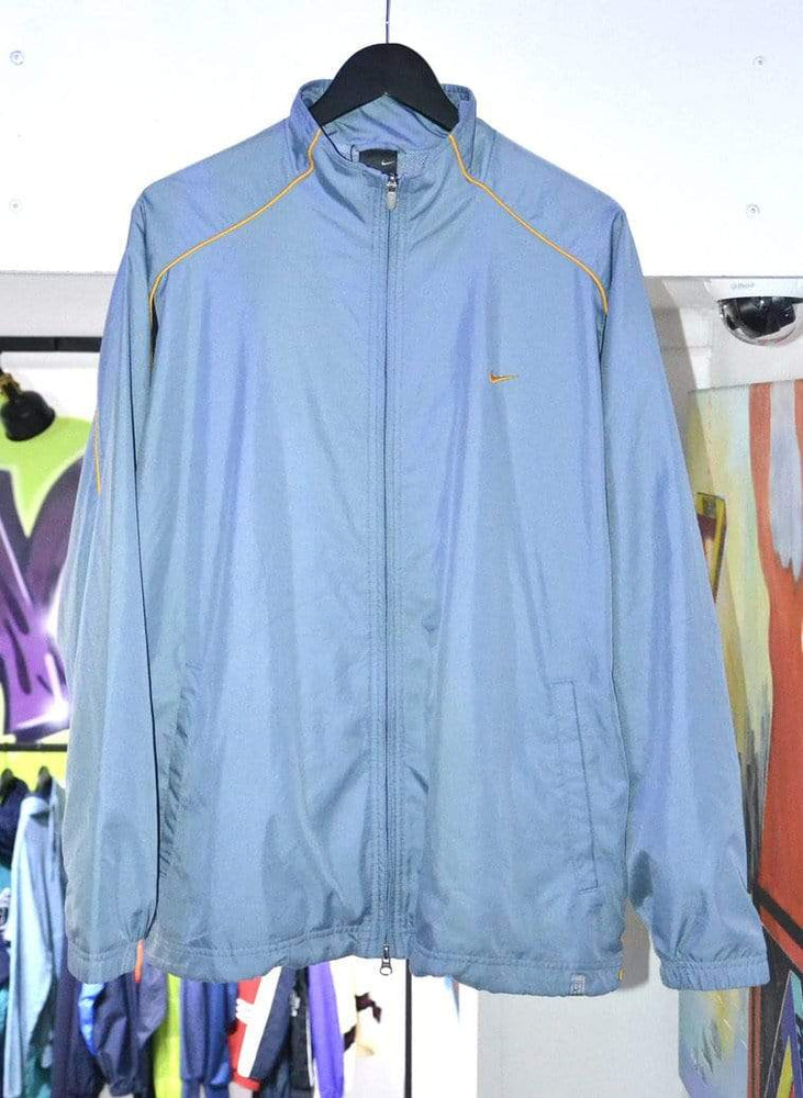 Load image into Gallery viewer, Nike Jackets Vintage Baby Blue Striped Yellow Nike Track Jacket XL