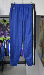 Nike Pants Vintage Blue Striped Reflective Back Logo Nike Track Pants XL