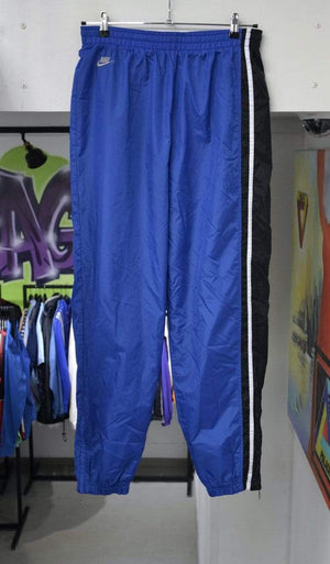 Load image into Gallery viewer, Nike Pants Vintage Blue Striped Reflective Back Logo Nike Track Pants XL