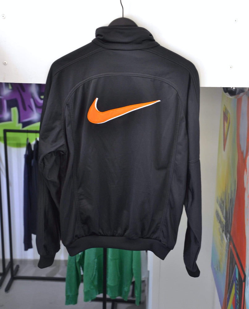 Nike Jackets Small Vintage Nike Black/Orange Swoosh Vest