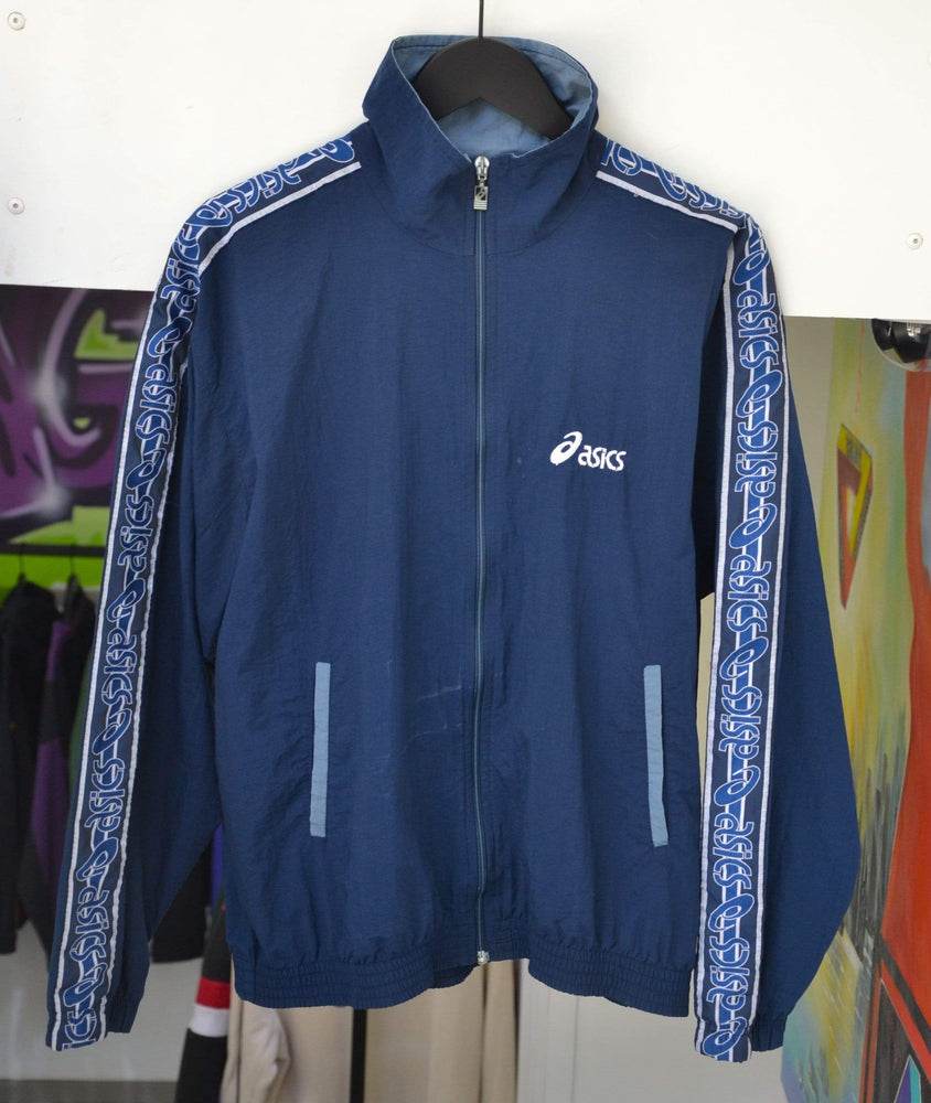 Other Brands Jackets Medium Vintage Asics Navy Taped Jacket