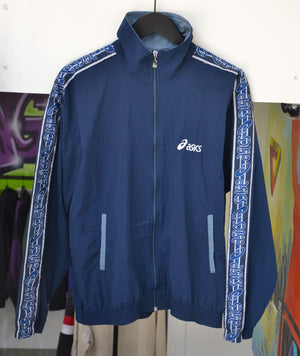 Load image into Gallery viewer, Other Brands Jackets Medium Vintage Asics Navy Taped Jacket
