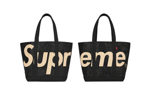 Supreme Accessories One Size Supreme Black Leather Spell Out Tote Bag (2020)