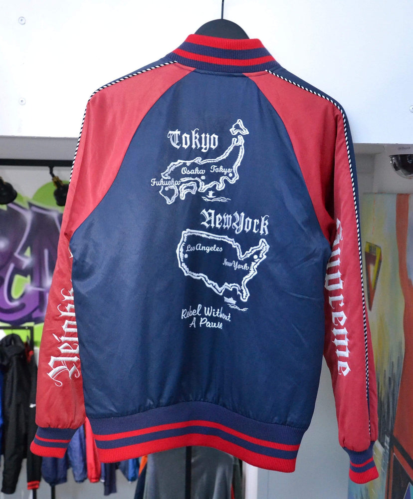 Load image into Gallery viewer, Supreme Jackets Supreme x Neighborhood 2006 Varsity Jacket Red S/M