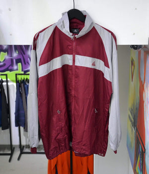 Load image into Gallery viewer, Vintage Jackets Large Vintage Adidas Burgundy/Grey Track Jacket