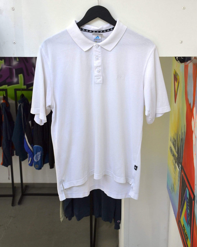 Load image into Gallery viewer, Vintage Polo Medium Vintage Adidas Small Logo White Polo