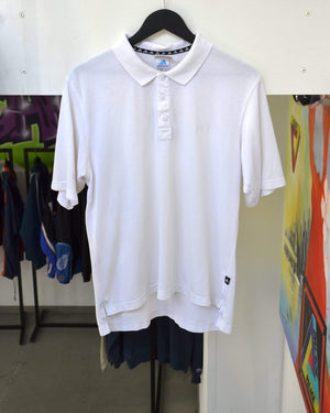 Vintage Polo Medium Vintage Adidas Small Logo White Polo