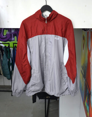 Load image into Gallery viewer, Vintage Jackets Extra Large Vintage Fila Red/Grey Track Jacket