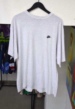 Vintage T-shirt Extra Large Vintage Nike Embroidered Logo Grey T-Shirt