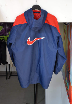 Laad het beeld in de Gallery viewer, Vintage Jackets Extra Large Vintage Nike Red/Blue Big Swoosh Jacket
