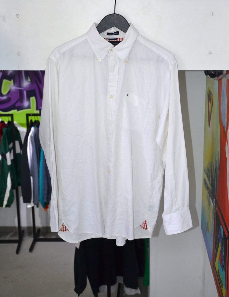 Vintage Polo Medium Vintage Tommy Hilfiger White Longsleeve Polo