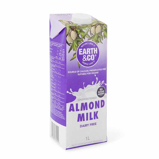 Earth & Co Milk Almond Unsweetened 1L