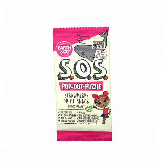 Earth & Co SOS Strawberry Flavour Fruit Snack 20g