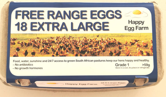 Free Range Eggs 18 XL