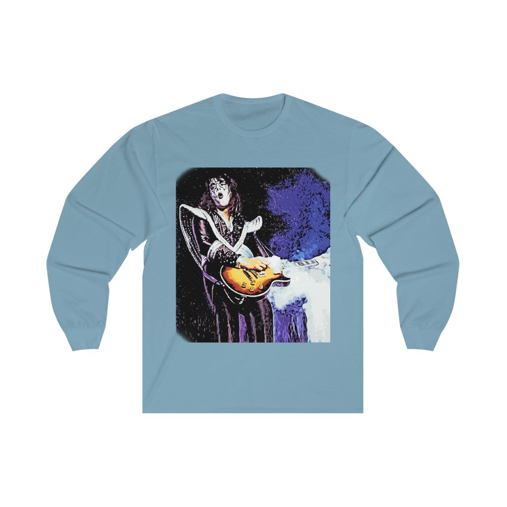 Ace Frehley Smoking Guitar Artwork Long Sleeve  T-Shirt