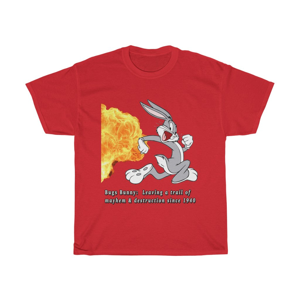 """Bugs Bunny: Leaving a trail of mayhem & destruction since 1940"" T-Shirt"