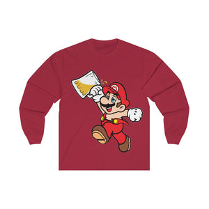 Drunk Mario Long Sleeve Tee