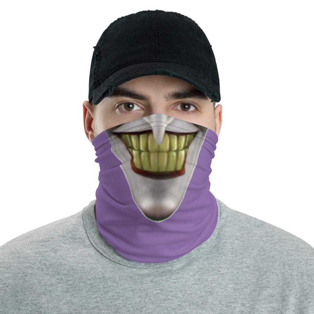Angry Clown Neck Gaiter Violet