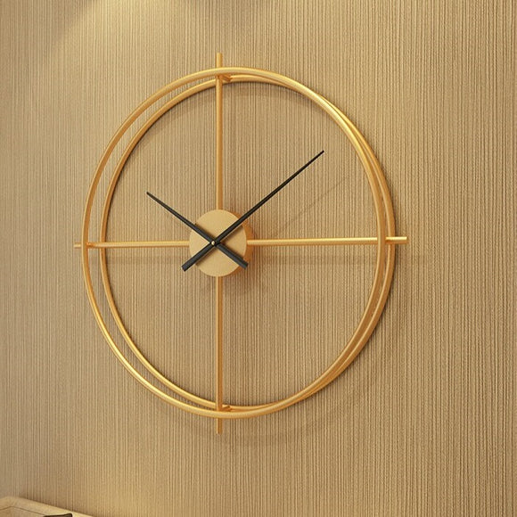 3D Modern Large Size Wall Clock (24 x 24 inch) - Gold