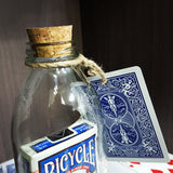 Card In Bottle (Bicycle Blue Deck)