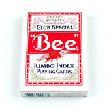 Bee Jumbo Index RED Deck