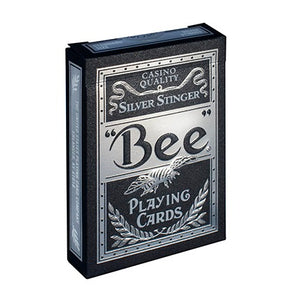 Bee Silver Stinger Playing Cards
