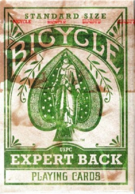 Bicycle Distressed Expert Back GREEN Deck