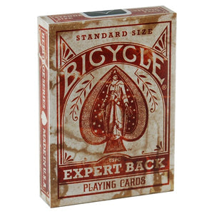 Bicycle Distressed Expert Back RED Deck