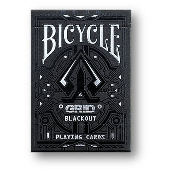 Bicycle Grid Blackout Deck - Black