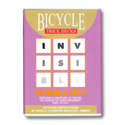 Bicycle Invisible BLACK Trick Deck