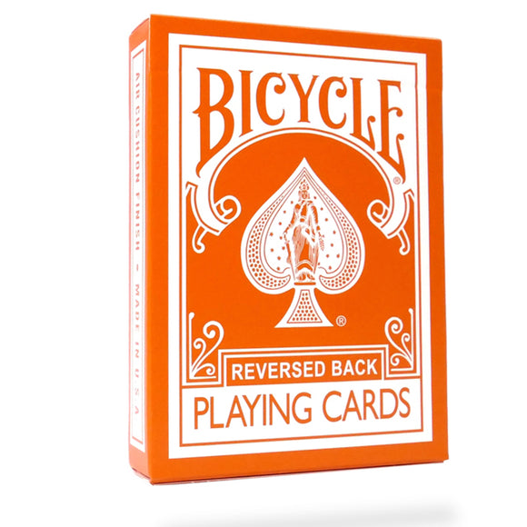Bicycle Reversed Back (Orange) Deck