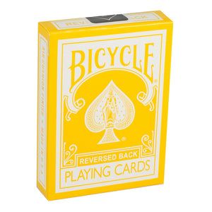 Bicycle Reversed Back (YELLOW) 2nd Generation Deck