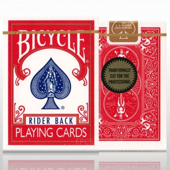 Bicycle (Gold Standard) - RED Rider Back Deck by Richard Turner