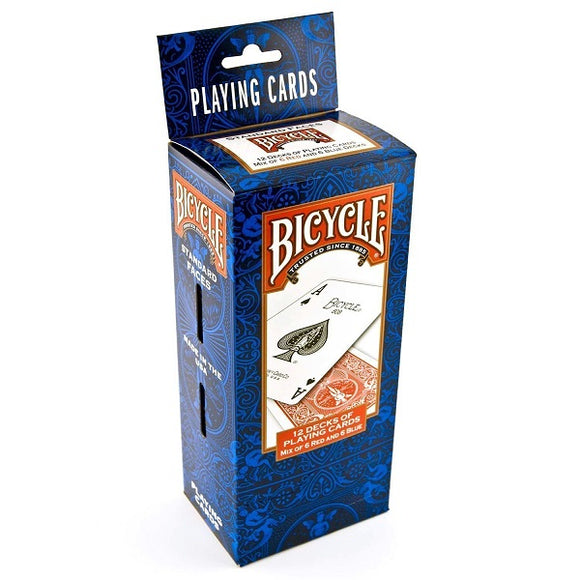 Brick of 12 Bicycle Standard 6 Red & 6 Blue Decks