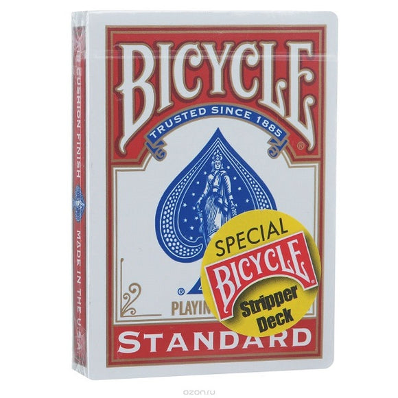 Bicycle Stripper RED Trick Deck