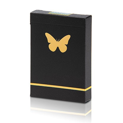 Butterfly Playing Cards Marked (Black and Gold) by Ondrej Psenicka