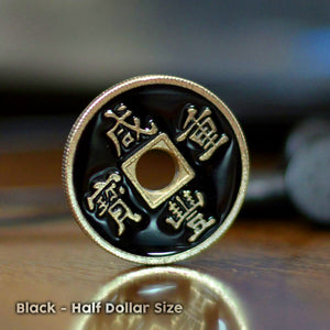 Chinese Coin Black (Half Dollar)