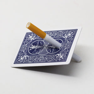 Cigarette Through Card - Blue