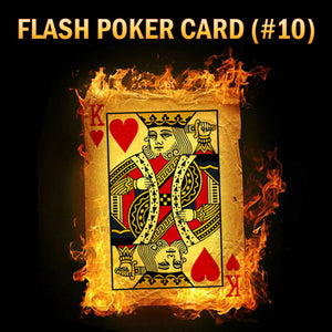 Flash Poker Card King of Hearts (Pack of 10)