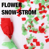 Flower Snow Storm in China (Red & Green)
