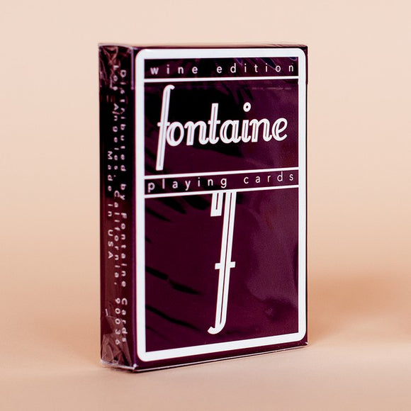 Fontaine Wine Edition Playing Cards