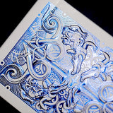 Blue Metallic Gatorbacks Playing Cards